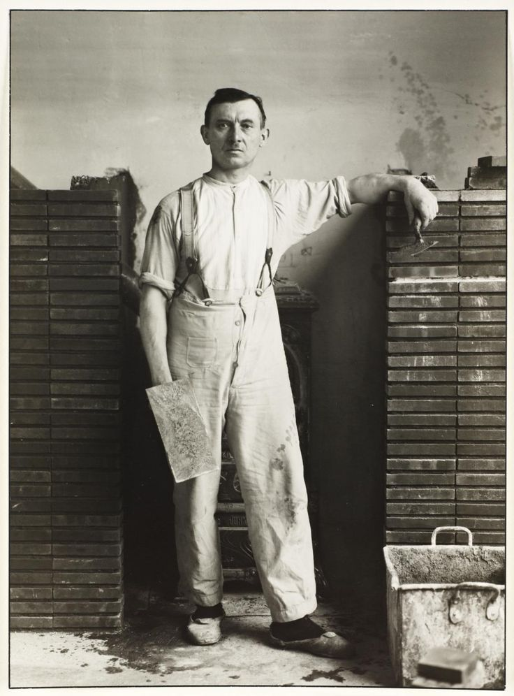 August Sander, 'Maestro Masón' 1926, impreso 1990