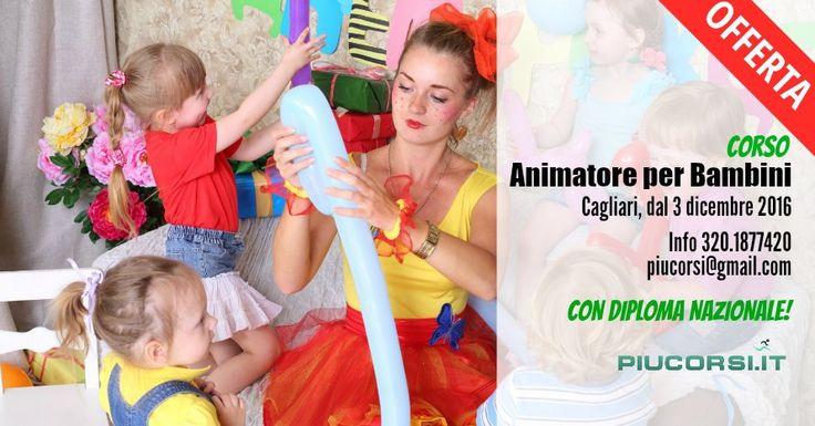 Il CFS Sardegna apre le iscrizioni al Corso per Animatore per bambini, che si terrà a Cagliari il 3/4 e il 10/11 Dicembre.  Un corso pratico e divertente che ti insegna a lavorare a contatto con i bambini per proporsi presso campi estivi, villaggi vacanze, navi da crociera,  animazioni e feste.