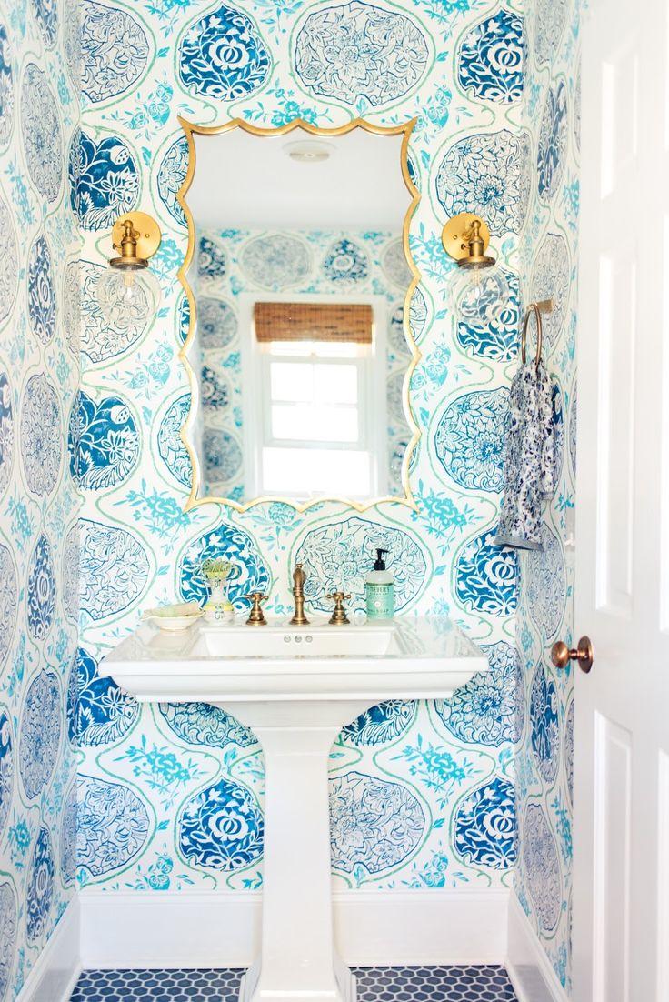 Into the Blue Powder Room