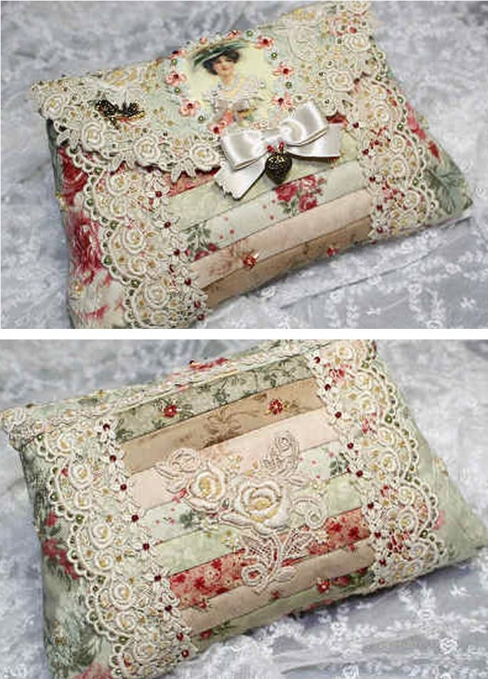 Idea for patchwork purse or clutch.