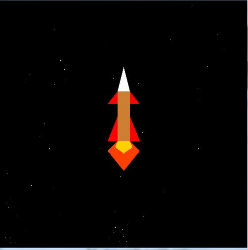 Journey of Space Shuttle or Rocket - OpenGL computer graphics projects for VTU computer science and engineering students