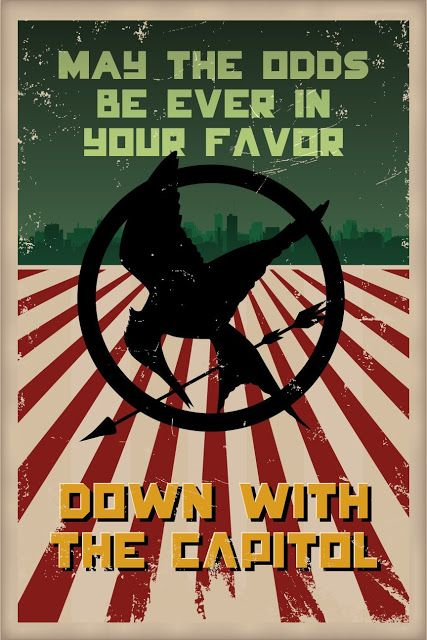 Down With The Capitol Poster: The Hunger Games art.