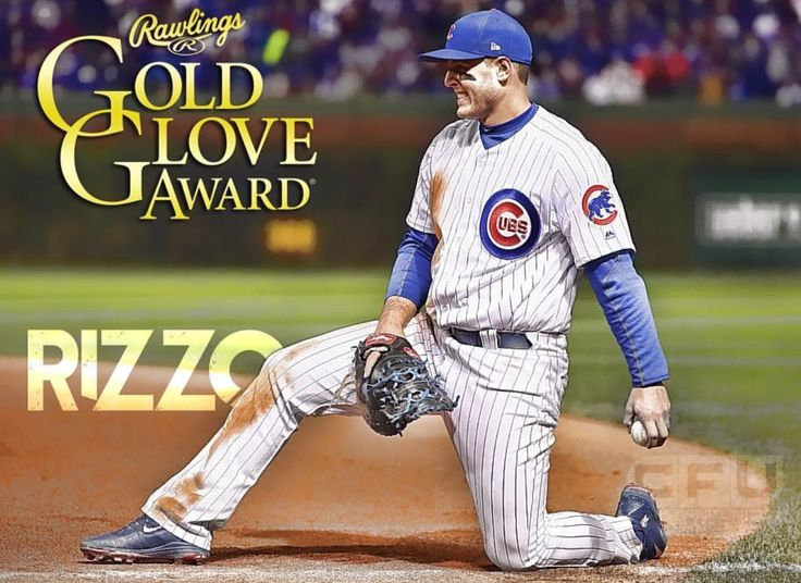 2016 Golden glove winner Rizzo - first one