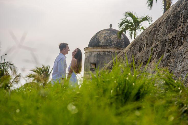 Destination wedding - Prewedding Cartagena  - Colombia