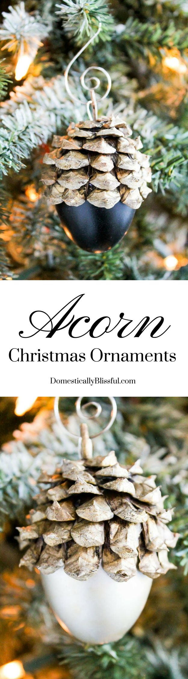 Yearly christmas ornaments - These Faux Acorn Christmas Ornaments Are Created From Plastic Easter Eggs Can Be Personalized To