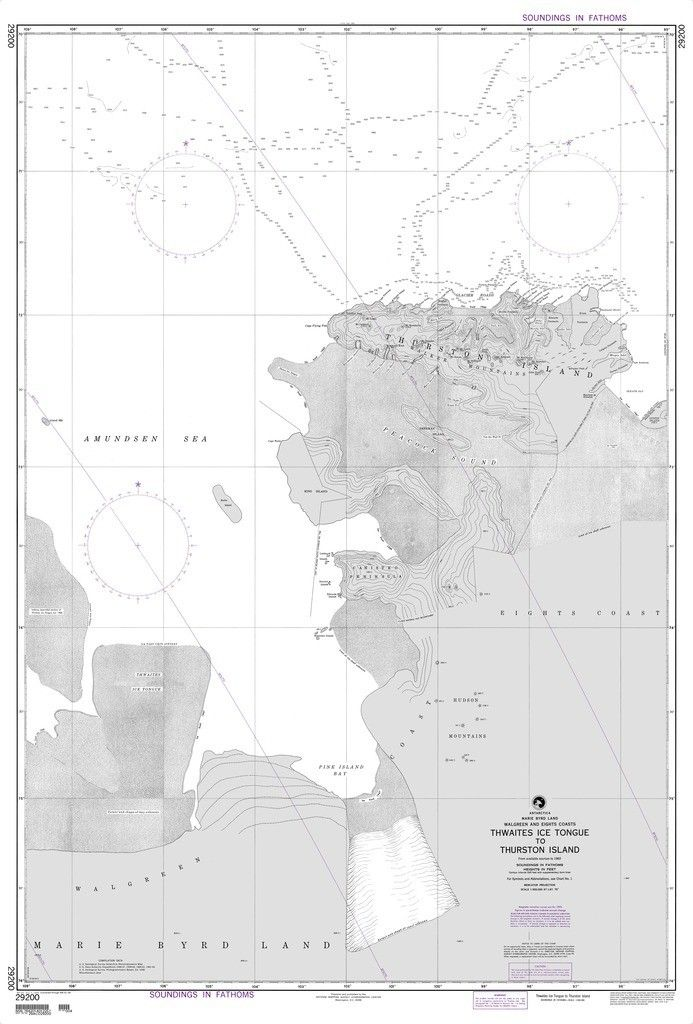 NGA Chart 29200: Thwaites Ice Tongue to Thurston Island
