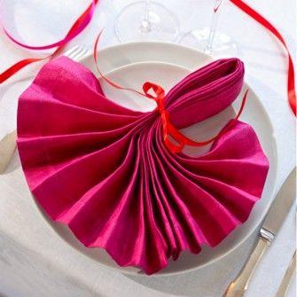 pliage de serviette ruban