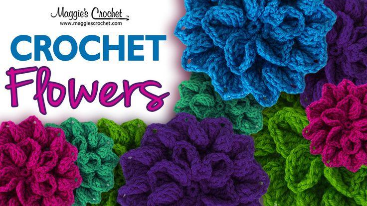 Hydrangea Free Crochet Pattern: http://www.maggiescrochet.com/pages/hydrangea-free-crochet-pattern Shop worsted weight yarn here: http://www.maggiescrochet.c...