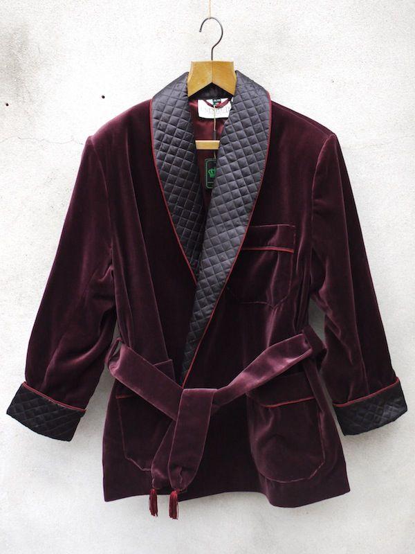Burgundy Smoking Jacket