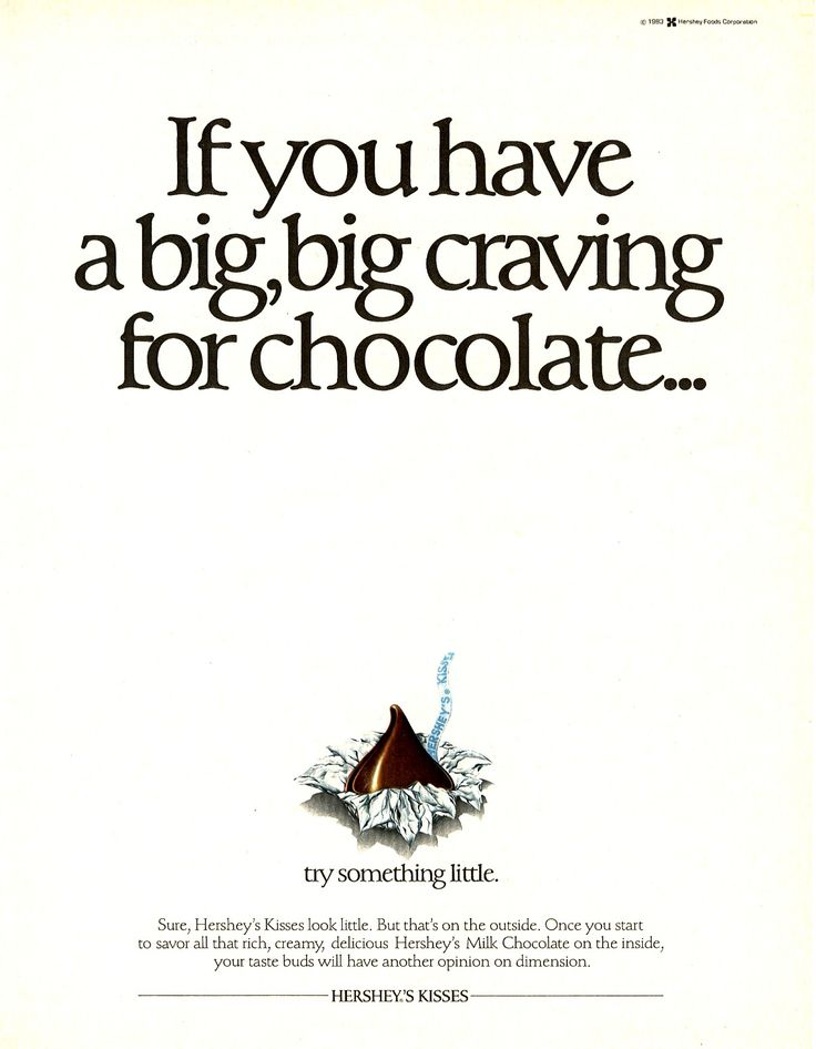chocolate ad ideas