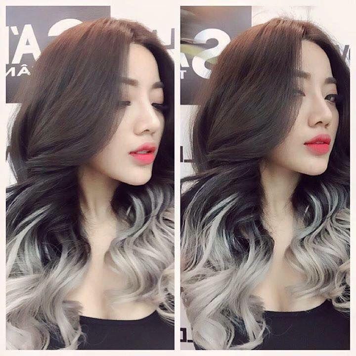 Hair Ideas Zeitschrift: Dark Brown Hair With Silver Ends