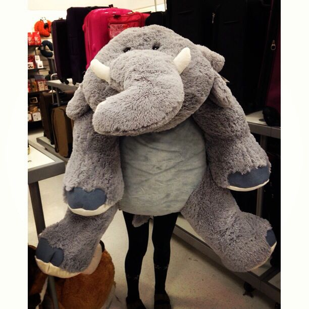 giant stuffed animal elephant hehehe its a big fluffy elephant d