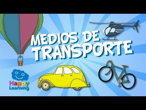 Means of Transport for Children | Learn Spanish - YouTube