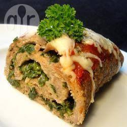 Gehaktbrood met kalkoen en spinazie @ allrecipes.nl