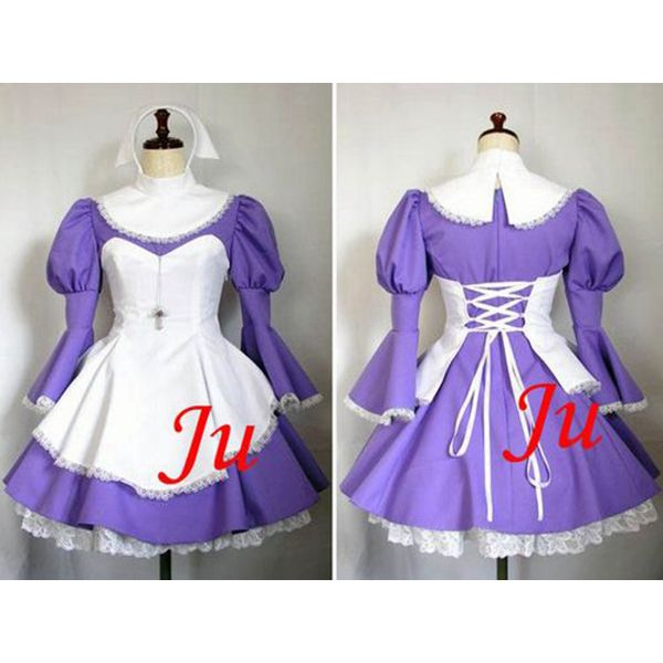 Free Shipping Sexy Sissy Maid Cotton Lockable Dress Uniform Cosplay Costume Tailor-made