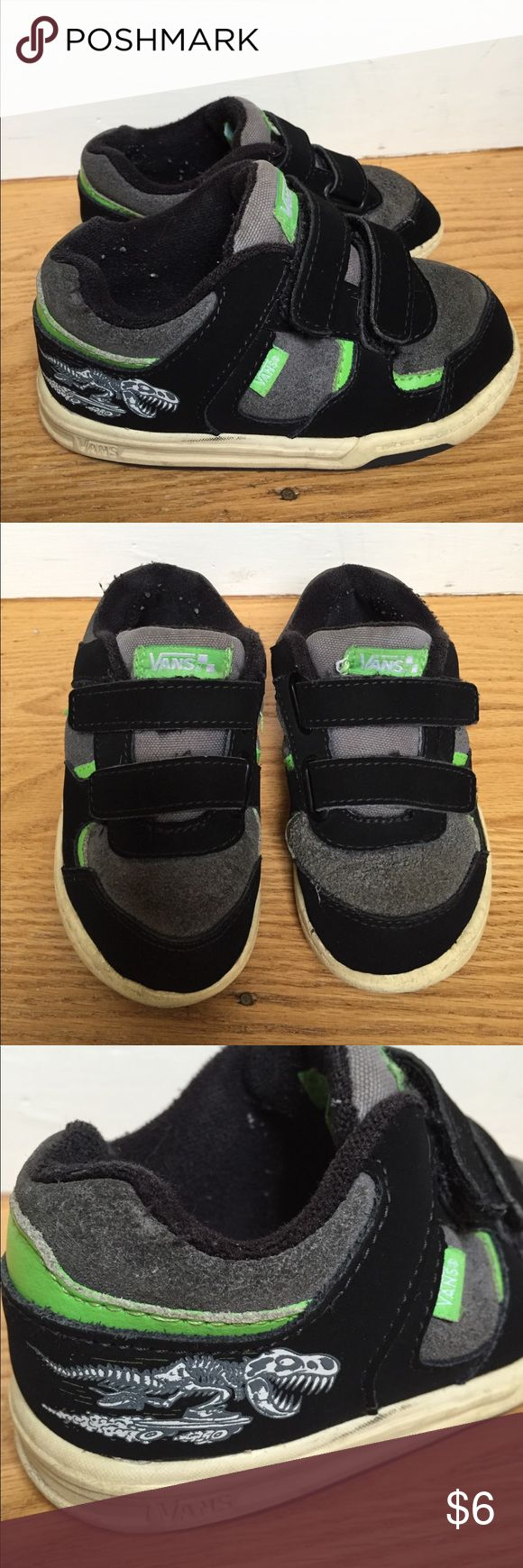 Skate shoes knox city - Vans Boys Size Vans Velcro Sneakers With Skateboarding Dinosaur Size Well Loved But Still Good Shows In Price