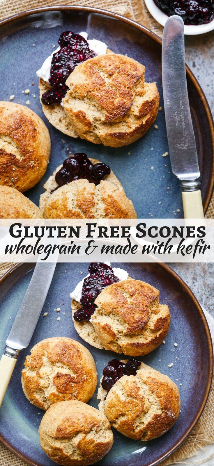 Wholegrain Gluten Free Kefir Scones (gluten free, soy free, egg free) - recipe by Nourish Everyday