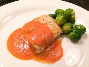 Recept kabeljauw met paprika-dragonsaus | Onno Kleyn