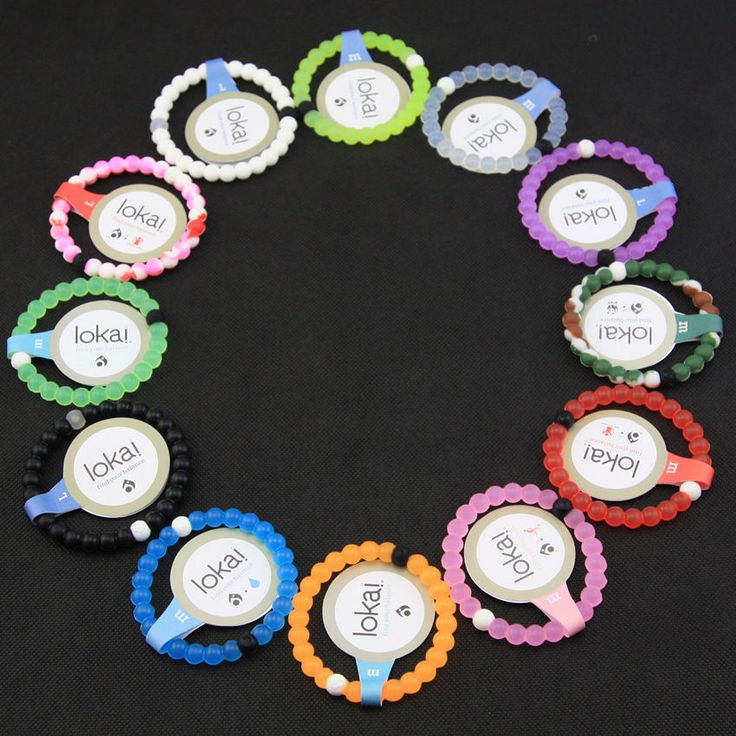 Lokai 12 Color Bracelet Mud  Dead Sea, water MT Everest Silicone SZ S, M, L ,XL