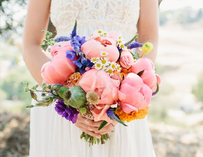 Colorful California Backyard Wedding Stefanie Leigh