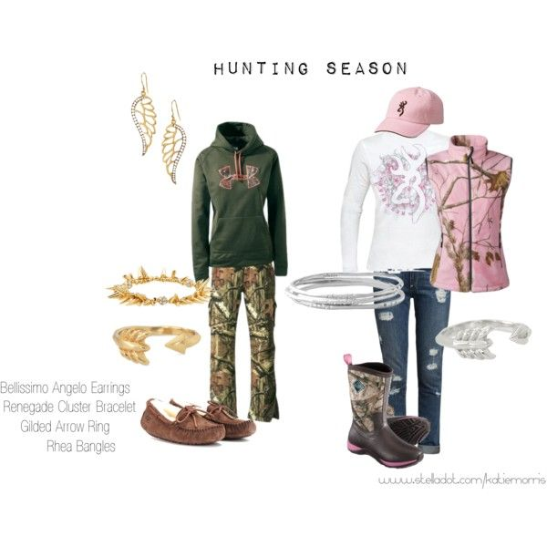 cooler weather means deer season is just around the corner for us in Texas. I don't hunt ~ but the outfits are cute!