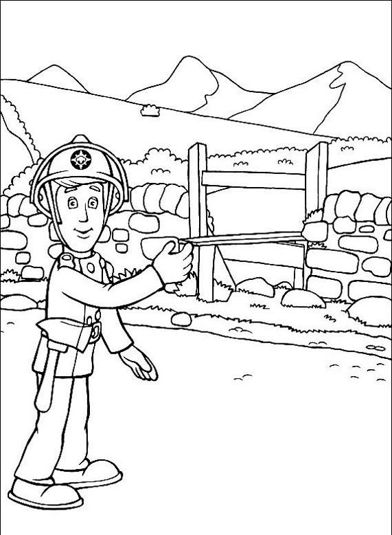 23 best images about gasilec samo on pinterest coloring for Fireman sam printable coloring pages