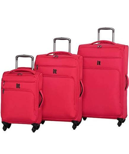 Lightweight Luggage Sets | The high-density polyester exterior is both durable and attractive, with four color choices available. Spacious compartments and expandability provide lots of packing area in these lightweight bags. Four spinner wheels and a push-button handle that stows away when not in use make this bag easy to manage and convenient to store.