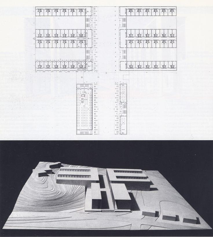 53-chieti-casa-dello-studente-1976-plan-du-1c2b0-etage-et-vue-de-la-maquette.gif (1142×1274)