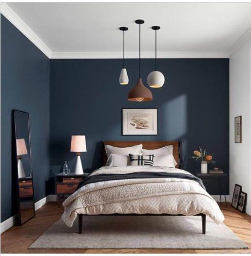 24 Wandfarbe Dunkelblau Schlafzimmer