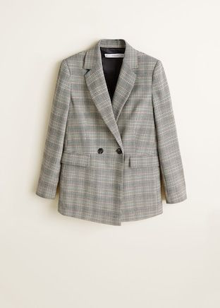 Veste structurée à carreaux - Femme Mango, veste carreaux mango, must-have  fall d7b90a27e8a
