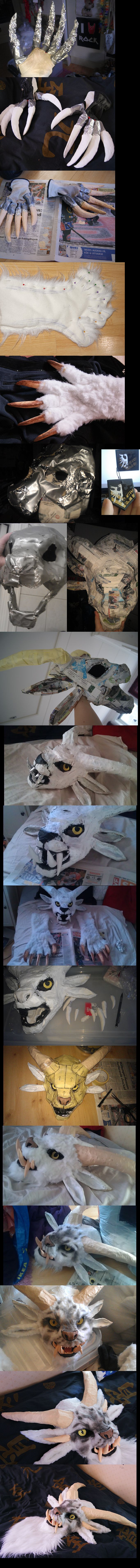 Charr Cosplay WIP by Lillgoban.deviantart.com on @deviantART