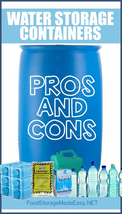 Water Storage Containers Pros and Cons