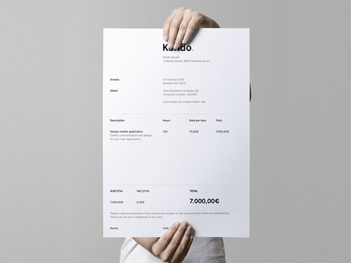 Graphic Design Invoices 50 Creative Invoice Designs For Your Inspiration    Hongkiat  Graphic Design Invoices