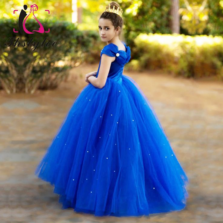 Mom and Daughter Dress Party Wedding  Dresses Clothes Family-clothing Mommy and Me  Matching Princess Rapunzel Bule Dress