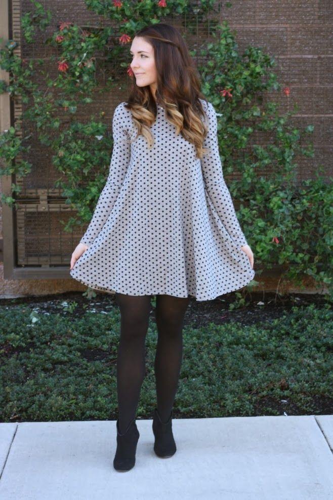 polka dot swing dress   re-wear me.   Pinterest