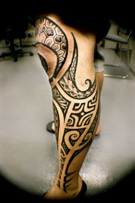 : leg tattoo designs for men