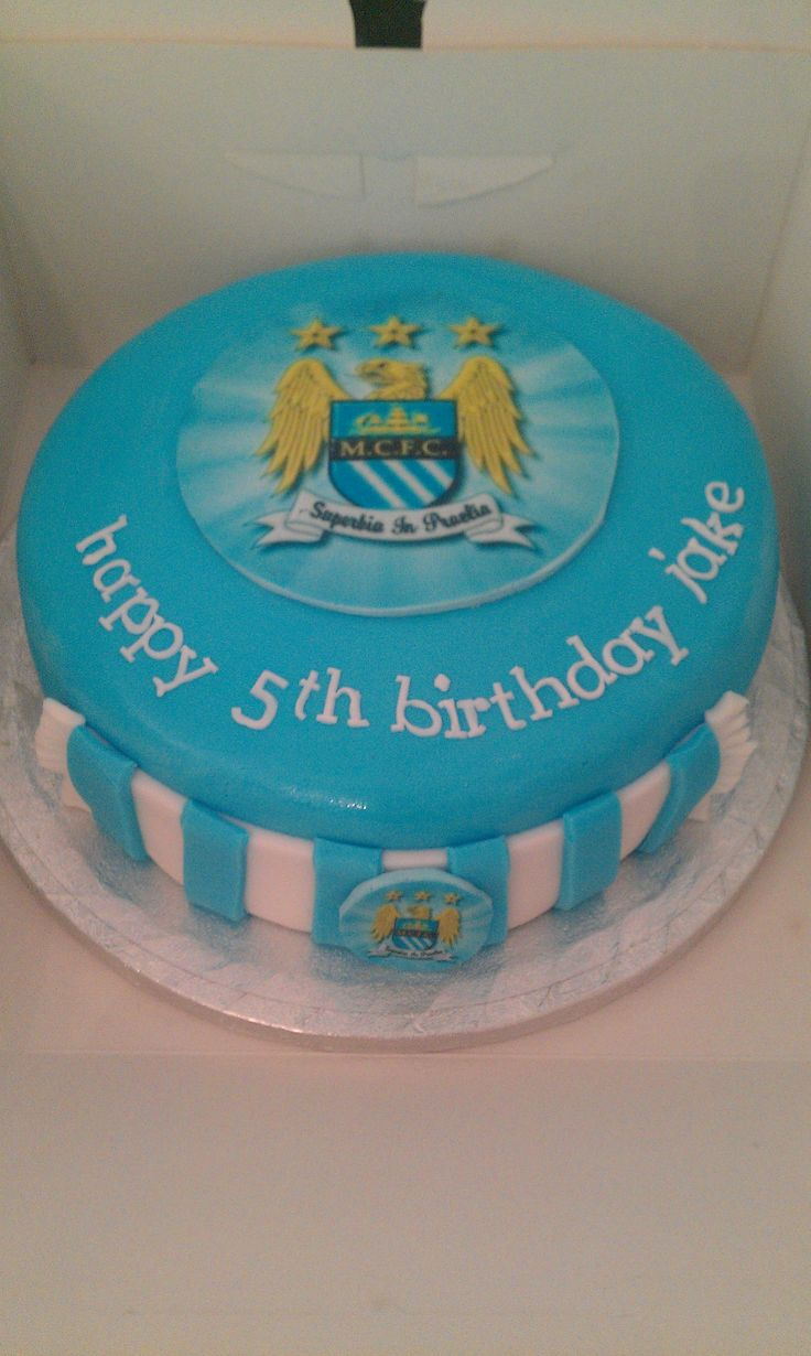 Manchester City Badge Cake Topper