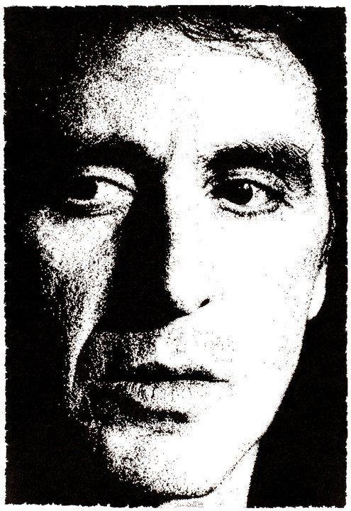 """Al Pacino, Scent of a Woman"" 01.2011 China su carta - dim. 33x48 cm #art #portrait #alpacino #cinema"