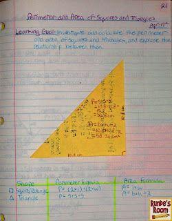 Математические Журнал воскресеньям - Сравнение Периметр и площадь