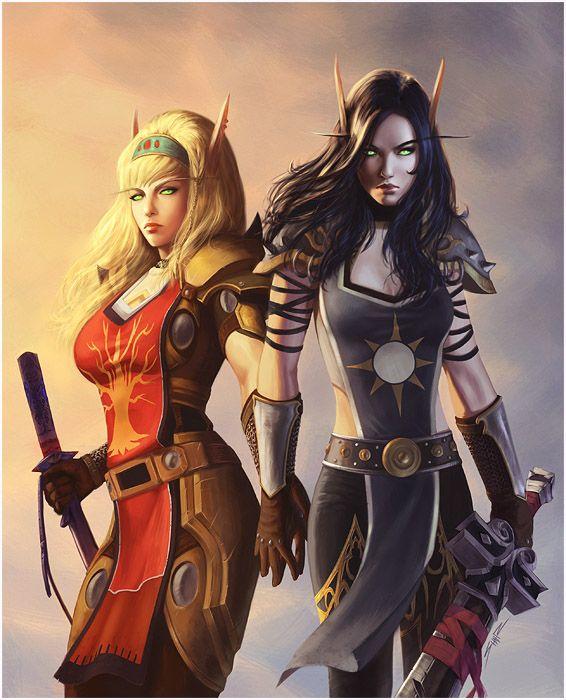 Soraya and Alyxandria Commission by Wulfsbane.deviantart.com on @deviantART
