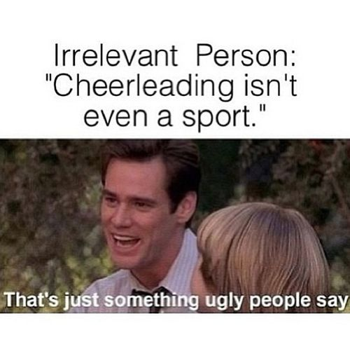 theres more to cheerleading than jumping So you think cheerleading is just for girls york hornets get yourself down there find more information at cheerleading -harder than it looks.