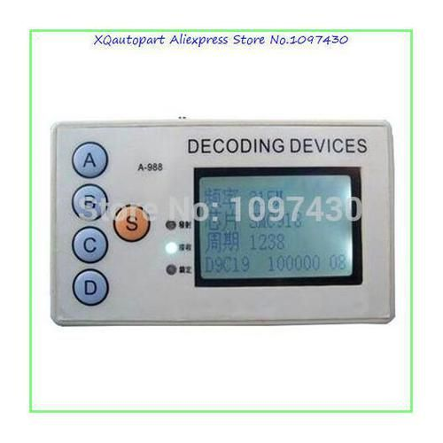 Remote Control Decoder Fixed Frequency Remote Decoding Device : XQautopart 4 in 1 Remote Control Decoder Fixed Frequency Remote Decoding Device Wireless Remote Control Duplicator.     http://www.aliexpress.com/store/product/XQautopart-1pc-4-in-1-Remote-Control-Decoder-Fixed-Frequency-Remote-Decoding-Device-Wireless-Remote-Control/1097430_2051834132.html  .>Shpping: DHL / EMS / HKpost / China Post / Singapore Post   4 in 1 Remote control decoder is wireless Remote control Detector & Duplic
