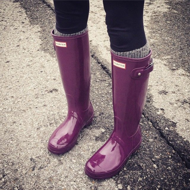 Purple hunter boots