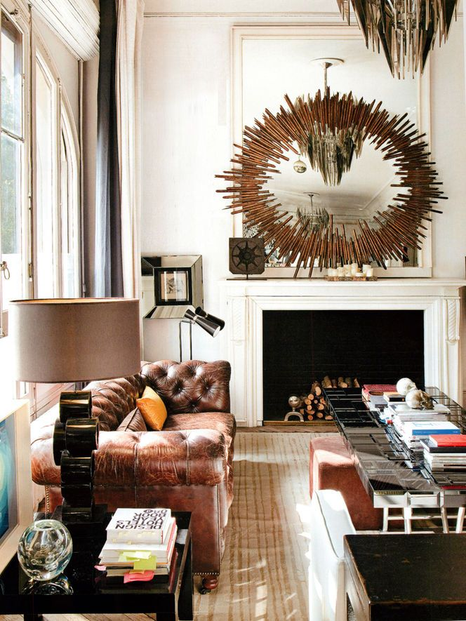 Brown Leather Chesterfield Sofa Living Room IdeasLiving