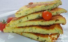 Сырная лепешка на сковороде   Кулинарные рецепты от «Едим дома!»
