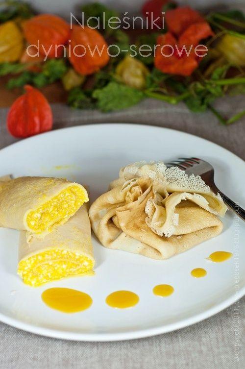 Naleśniki dyniowo-serowe i pasta dyniowa z kurkumą