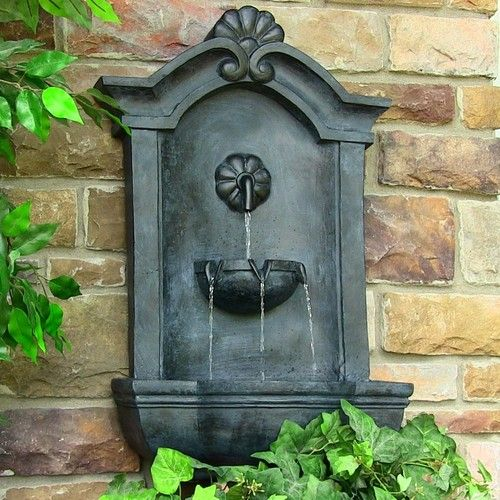 outdoor wall mounted fountains styles. Black Bedroom Furniture Sets. Home Design Ideas