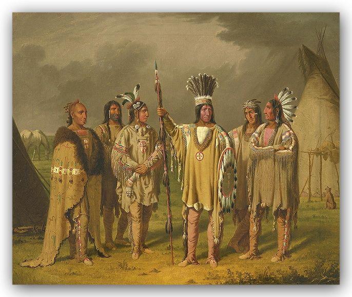 Native Ontario Plants: Six Blackfoot Chiefs By Canadian Artist Paul_Kane Ca1850s