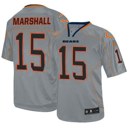 54a15872f ... Navy Blue Team Color Mens Embroidered NFL Elite Jersey! Nike Bears 15  Brandon Marshall Lights Out Grey Youth Embroidered NFL Elite Jersey prices  USD ...