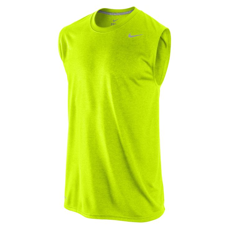 Nike Legend Poly Sleeveless  - SWEAT-WICKING COMFORT The Nike Legend Poly Sleeveless Men's Training Shirt is built with performance fabric that pulls sweat to the surface for faster evaporation with a streamlined fit that offers great range of motion. Benefits  Dri-FIT fabric to wick sweat away and help keep you dry and comfortable Rib crew neck with interior tape for comfort and durability Sleeveless fit for enhanced mobility Flat seams to minimise irritation caused by ...